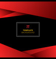 template red geometric background with halftone vector image vector image