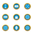 timeline icons set flat style vector image vector image