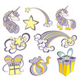 unicorns set vector image