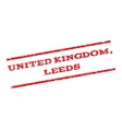 United Kingdom Leeds Watermark Stamp vector image vector image