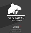 vegetarian restaurant symbol Flat modern web vector image
