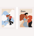 vertical banners with dancing couple vector image vector image