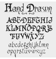 Vintage alphabet hand drawn font