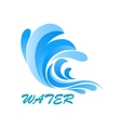Wave symbol with flowing and curving water vector image vector image