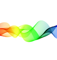 Abstract color wave element for design vector image