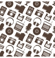 Seamless Pattern with Retro Media technology vector image