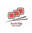 sushi logo or icon vector image