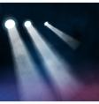 3 three Floodlights spotlights illuminates wooden vector image vector image
