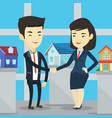 agreement between real estate agent and buyer vector image vector image