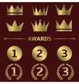 Award symbols vector image vector image