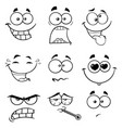 black and white funny face collection -2 vector image vector image