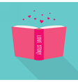 Book icon Concept of love story fiction genre vector image vector image