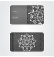 Business card from denim grey ornamental face vector image