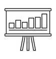 business strategy icon outline style vector image