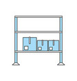cardboard boxes on shelves icon image vector image vector image