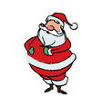 cartoon santa claus for your christmas vector image vector image