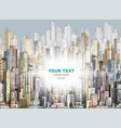 city background hand drawn vector image vector image