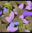 colorful textured 3d floral seamless pattern vector image vector image