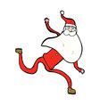 comic cartoon running santa vector image vector image