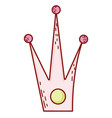 crown cartoon isolated vector image