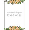 decorative golden rectangular frame vector image vector image