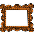 doodle picture frame vector image