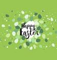 easter eggs confetti vector image vector image