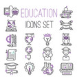 education graduation school outline icons symbols vector image