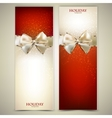 Elegant greeting cards vector image vector image