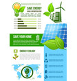 energy and ecology environment infographics vector image vector image
