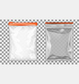 filled foil pouch bag packaging with zipper vector image vector image
