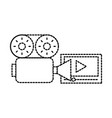film camera movie table online vector image