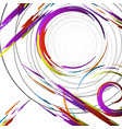 geometric colorful collage vector image vector image