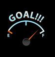 goal meter vector image