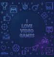 i love video games colored frame - game vector image vector image