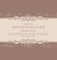 invitation card in vintage style vector image vector image
