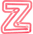 lowercase letter z drawing with Red Marker vector image vector image