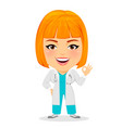 medical doctor woman showing ok sign funny vector image