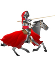 medieval armored knight armed with pike jousting o vector image vector image