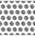 modern geometric circle seamless texture in black vector image vector image