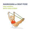 naukasana navasana or yoga boat pose easy vector image