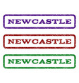 newcastle watermark stamp vector image