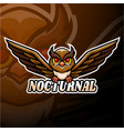 nocturnal esport logo mascot design vector image vector image