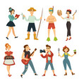 people hobby or profession characters vector image vector image