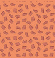 pieces of salmon seamless pattern vector image vector image