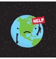 planet earth need help cartoon vector image vector image
