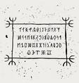 runic alphabet magyar runes in handwritten style vector image