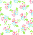 Seamless floral pattern with little pink and blue vector image vector image