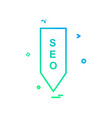 seo tag icon design vector image
