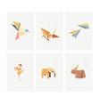 set geometric modern graphic elements asian vector image